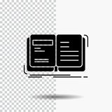 Author, book, open, story, storytelling Glyph Icon on Transparent Background. Black Icon. Vector EPS10 Abstract Template background vector illustration