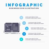 Author, book, open, story, storytelling Infographics Template for Website and Presentation. GLyph Gray icon with Blue infographic. Style vector illustration stock illustration