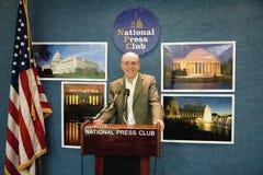 Author photographer Joseph Sohm. Speaking from the National Press Club in Washington D.C Royalty Free Stock Photos