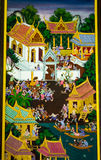 Author Temple murals Thailand Pathumthani . Royalty Free Stock Images