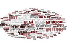 The Author Within Text Background  Word Cloud Concept Royalty Free Stock Image