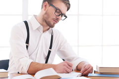Author at work. Stock Photography