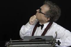 Author Working n Typewriter Stock Images