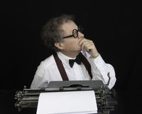 Author Working on Typewriter Stock Photos