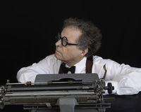 Author Working on Typewriter Royalty Free Stock Image