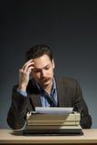 Author working at the typewriter Royalty Free Stock Photos