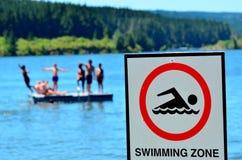 Authorise swimming zone Royalty Free Stock Image