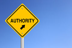 Authority Road Sign Royalty Free Stock Image
