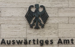 Authority signpost - Foreign Office  Federal Republic of Germany Stock Images