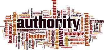 Authority word cloud. Concept. Vector illustration stock illustration