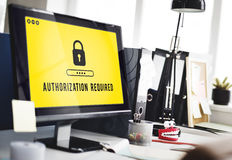 Authorization Privacy Permit Requirement  Secure Concept Royalty Free Stock Photography