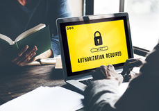 Authorization Privacy Permit Requirement  Secure Concept Stock Photography