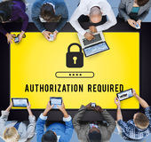 Authorization Privacy Permit Requirement  Secure Concept Royalty Free Stock Images