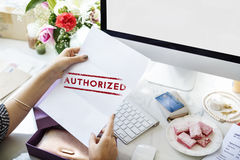 Authorize Allowance Approve Permit Graphic Concept Royalty Free Stock Photo