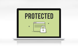 Authorize Protected Verification Privacy Security Concept Stock Photography