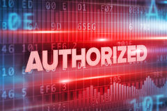 Authorized abstract concept blue text blue background Royalty Free Stock Photography