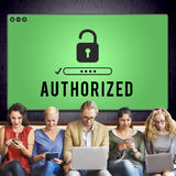 Authorized Access Opened Pass Authority Concept Royalty Free Stock Photography