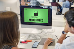 Authorized Access Opened Pass Authority Concept. Authorized Access Opened Pass Authority Stock Photo