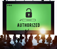 Authorized Access Opened Pass Authority Concept Stock Photo