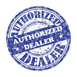 Authorized dealer rubber stamp Royalty Free Stock Photos