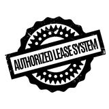 Authorized Lease System rubber stamp Stock Image