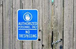 Authorized Personnel Only Royalty Free Stock Image