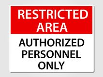 Authorized personnel only sign on grey Stock Photography