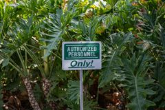Authorized Personnel sign royalty free stock image
