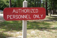 Authorized Personnel Only Royalty Free Stock Images