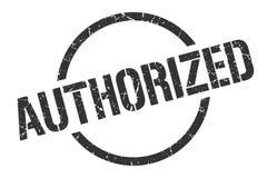 Authorized stamp. Authorized round grunge stamp. authorized sign. authorized stock illustration