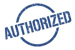 Authorized stamp. Authorized round grunge stamp. authorized sign. authorized vector illustration