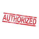 Authorized Rubber Stamp. Authorized grungy red rubber stamp vector illustration royalty free illustration