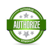Authorized seal stamp illustration design Stock Image