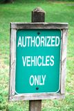 Authorized sign Stock Image