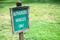 Authorized sign Royalty Free Stock Image