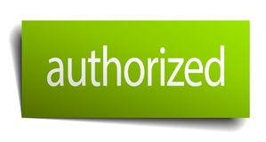 Authorized sign. Authorized square paper sign isolated on white background. authorized button. authorized stock illustration