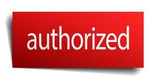 Authorized sign. Authorized square paper sign isolated on white background. authorized button. authorized royalty free illustration