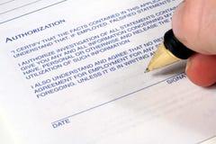 Authorized Signature Stock Images