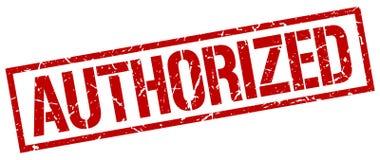Authorized stamp. Authorized square grunge sign isolated on white. authorized royalty free illustration
