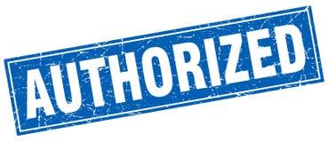 Authorized stamp. Authorized square grunge stamp. authorized sign. authorized vector illustration