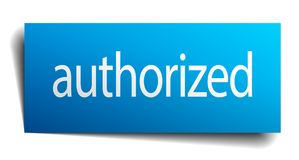 Authorized sign. Authorized square paper sign isolated on white background. authorized button. authorized vector illustration