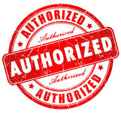 Authorized stamp. Authorized grunge stamp isolated on white vector illustration