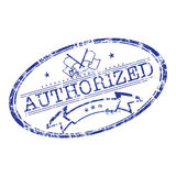 Authorized stamp. Abstract illustration with grunge office rubber stamp with the word authorized written in the middle vector illustration