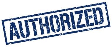 Authorized stamp. Authorized square grunge sign isolated on white. authorized stock illustration