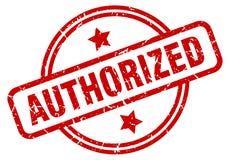 Authorized stamp. Authorized grunge vintage stamp isolated on white background. authorized. sign royalty free illustration