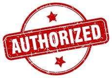 Authorized stamp. Authorized grunge vintage stamp isolated on white background. authorized. sign stock illustration