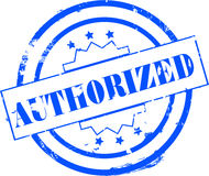 Authorized stamp. Illustration of an authorized stamp isolated on a white background stock illustration