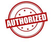 Authorized. Stamp with word authorized inside, illustration stock illustration