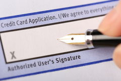 Authorized user's signature Stock Photography
