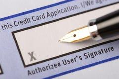 Authorized user's signature Royalty Free Stock Photo